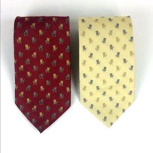 Tommy Bahama Off Island Tie Set 100% Silk